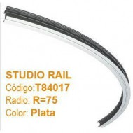 DOUGHTY STUDIO RAIL CURVO R=75 color plata