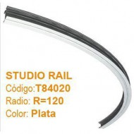 DOUGHTY STUDIO RAIL CURVO R=120 color plata