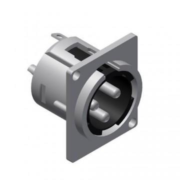 PROCAB CONECTOR XLR 3 Pin MACHO CHASIS