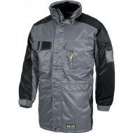 PARKA FUTURE ANTIMANCHAS COLOR GRIS + NEGRO