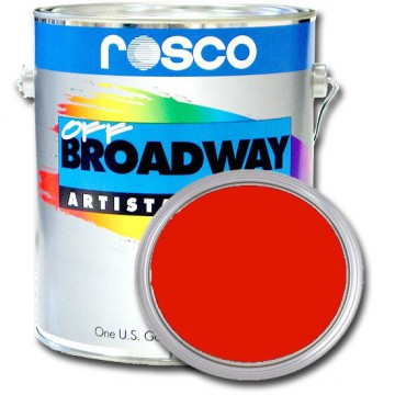 PINTURA OFF BROADWAY FIRE RED, 3,8 Litros ROSCO