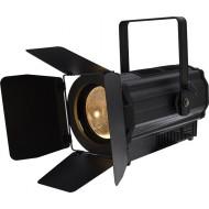 Proyector lente PC (plano convexa) LED COB 160W 3200K Zoom motorizado con visera