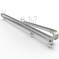 ADMIRAL GUIA PARA CABLES SNAKE BASE 3m Alto 7m Color plata