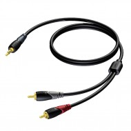 PROCAB CABLE MINI JACK MACHO STEREO a 2 RCA MACHODE 1,5 m