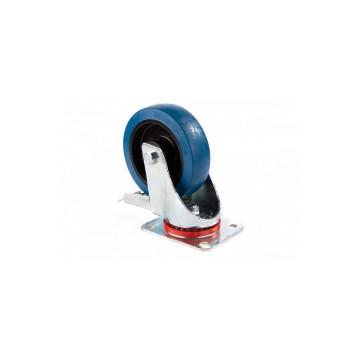ADMIRAL Rueda giratoria diámetro 160 mm, color azul, con freno