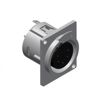 PROCAB CONECTOR XLR 5 Pin HEMBRA CHASIS