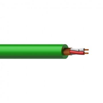PROCAB CABLE MICROFONO 2 X 0,23 mm VERDE - 1 metro