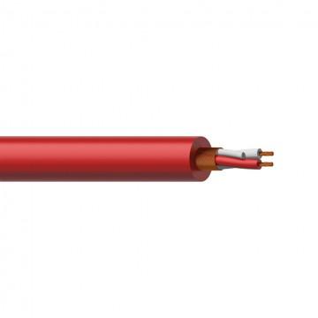 PROCAB CABLE MICROFONO 2 X 0,23 mm ROJO - 1 metro