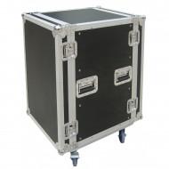 "JV CASE FLIGHTCASE RACK 12 Unidades rack 19"" + ruedas"