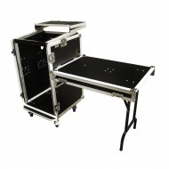 "JV CASE Flightcase 19"" de 10/18U Frontal 18U + Superior 10U + MESA"