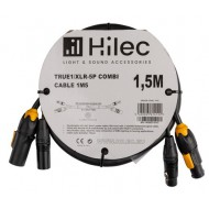 HILEC CABLE COMBI 1,5m. TRUE1/XLR-5P. DMX+POWER 3x1,5mm² cable TRU