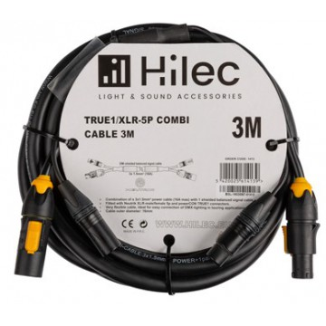HILEC CABLE COMBI 3 m. TRUE1/XLR-5P. DMX+POWER 3x1,5mm² cable TRU