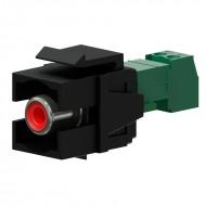 PROCAB CONECTOR RCA con tornillos color negro