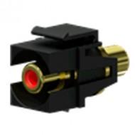 PROCAB Conector RCA a RCA KEYSTONE color Negro