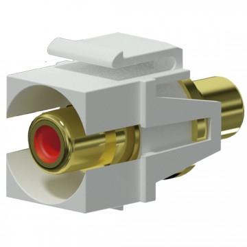 PROCAB Conector RCA a RCA KEYSTONE color blanco