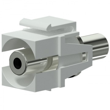 PROCAB Conector Jack a Jack KEYSTONE color blanco