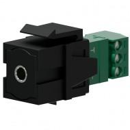 PROCAB BLOQUE JACK HEMBRA 3,5mm NEGRO Sistema KEYSTONE
