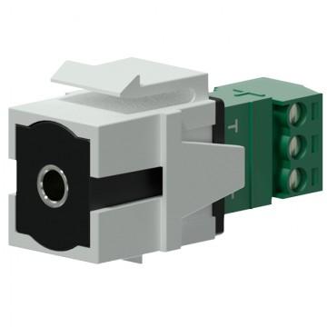 PROCAB BLOQUE JACK HEMBRA 3.15mm BLANCO Sistema Keystone