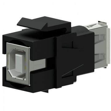PROCAB Conector USB 2.0 A - USB 2.0 B Reversible negro Keystone