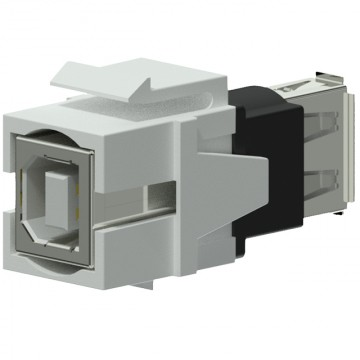 PROCAB Conector USB 2.0 A - USB 2.0 B Reversible blanco