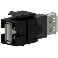 PROCAB Conector USB 2.0 A - USB 2.0 A Negro Keystone