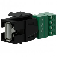 PROCAB Conector USB 2.0 A - terminal con tornillos color negro