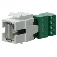 PROCAB Conector USB 2.O A - Termninal con tornillos color blanco