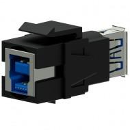 PROCAB Conjector USB 3.0 A a USB 3.0 B Reversible color negro