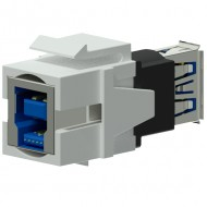 PROCAB Conector USB 3.0 A a USB 3.0 B Reversible color Blanco