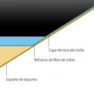 ROLLO SUELO DANZA HARMONY™ HG 1,5X20m NEGRO BRILLO