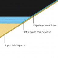 ROLLO SUELO DANZA HARMONY™ VALUE 2x10m NEGRO MATE