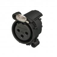 CONECTOR XLR 3 Pin HEMBRA CHASIS PCB HORIZONTAL PLASTICO