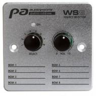 AUDIOPHONY WS8 controlador de pared con selector de fuente para matriz