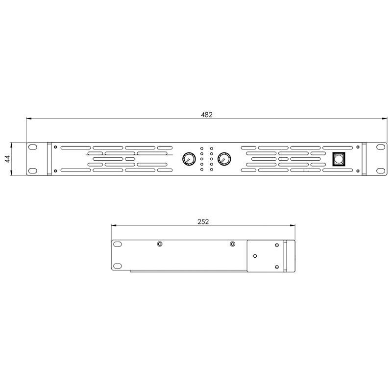 Xs 400 etapa de potencia Ld systems LDXS400