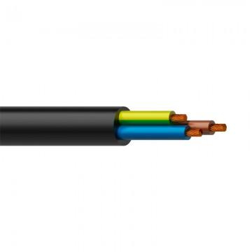 CABLE DE CORRIENTE flexible 3x1,5 mm color negro CERVI