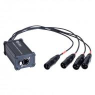 HILEC CAJA ADAPTADORA RJ45 aa XLR3M para audio y DMX BOXRJ4XM3