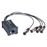 HILEC CAJA ADAPTADORA RJ45 a XLR5M para audio o DMX BOXRJ4XM5