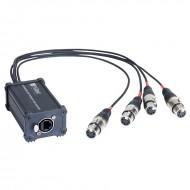 HILEC CAJA ADAPTADORA RJ45 a XLR5F para audio y DMX BOXRJ4XF5
