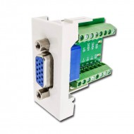 Modulo VGA HEMBRA 15 PIN (45 X 22,5 mm) para cajas con carril