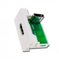 Panel HDMI 1-4A H-H 90º (45 x 22,5 mm) para cajas con caarril