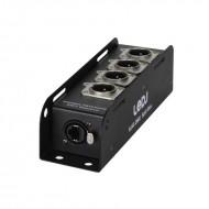 LEDj Adaptador 1 EtherCON a DMX con 4 XLR 3 pin macho