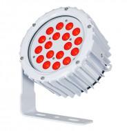 LEDJ PROYECTOR 18 LED ROJO x 3w IP65 15º + 31º (ASPECT XL)