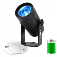 LEDj PROYECTOR LED 15W RGBW CON BATERIA 10º + 45º cuerpo negro