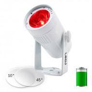 LEDj PROYECTOR LED 15W RGBW CON BATERIA 10º + 45º cuerpo blanco