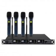 WAUDIO 1 Receptor + 4 micros de mano DQM 600H (606Mhz-614Mhz)