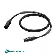 PROCAB Cable Neutrik XLR 3P Macho XLR 3P Hembra 10m