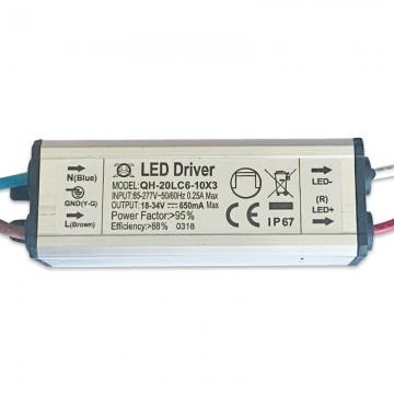TRITON PSU MINI RECORTE LED 20W Todos los modelos. Salida 18-34V IP67