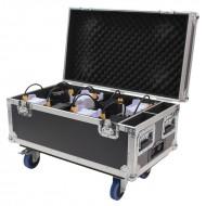 LEDJ Flightacase para carga y transporte de 8 pro yectores IP RAPID QB1