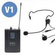 WAUDIO Petaca + micro cabeza + mico solapa DTM 600BP (606.0Mhz-614.0Mhz)