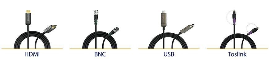 Señal HDMI, BNC, Toslink, USB